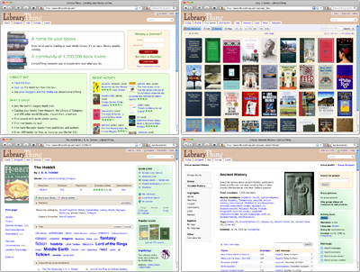 Screenshot of sample screens