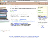 LibraryThing homepage
